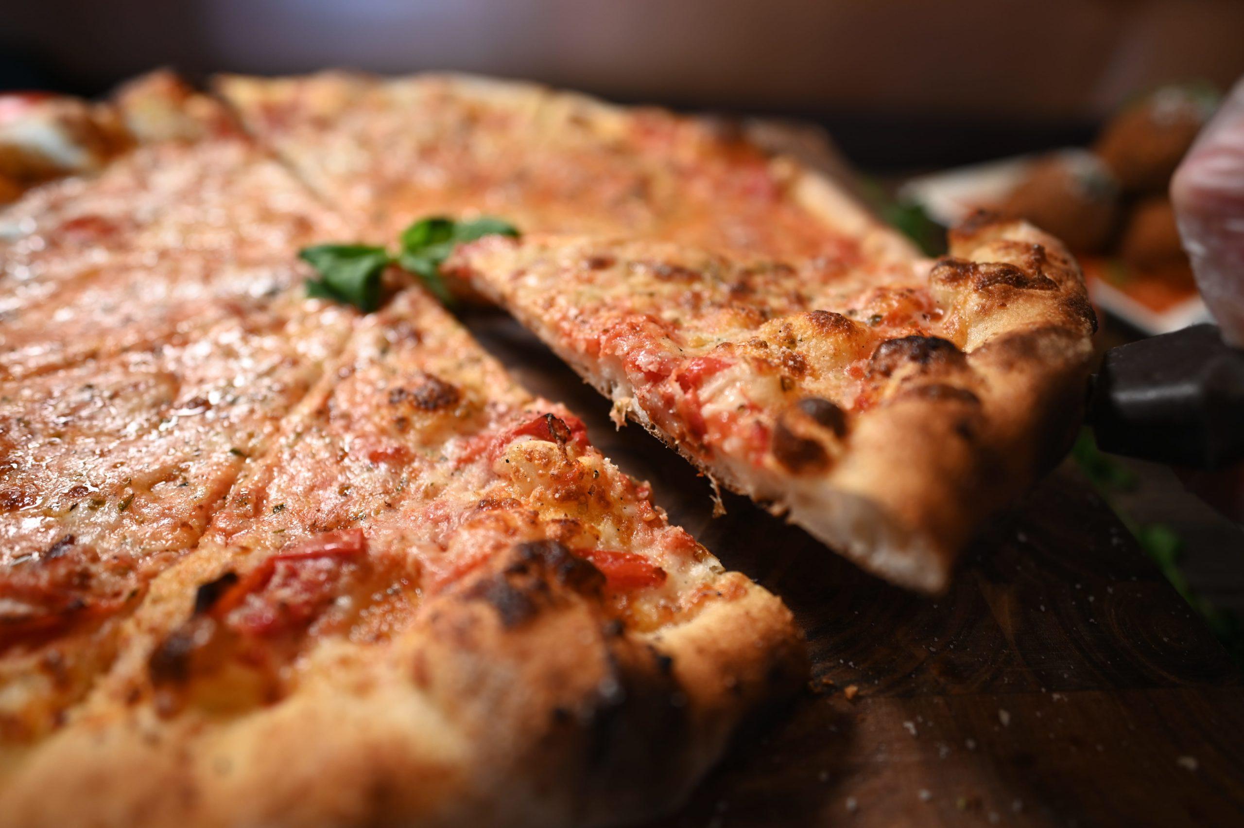 brick oven cheese pizza